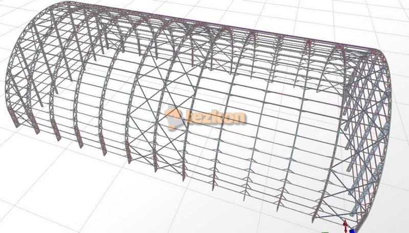 halı saha çelik statik proje