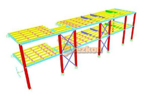 çelik statik proje