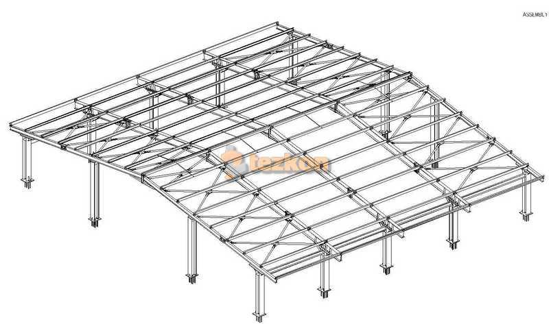 çelik çatı statik proje