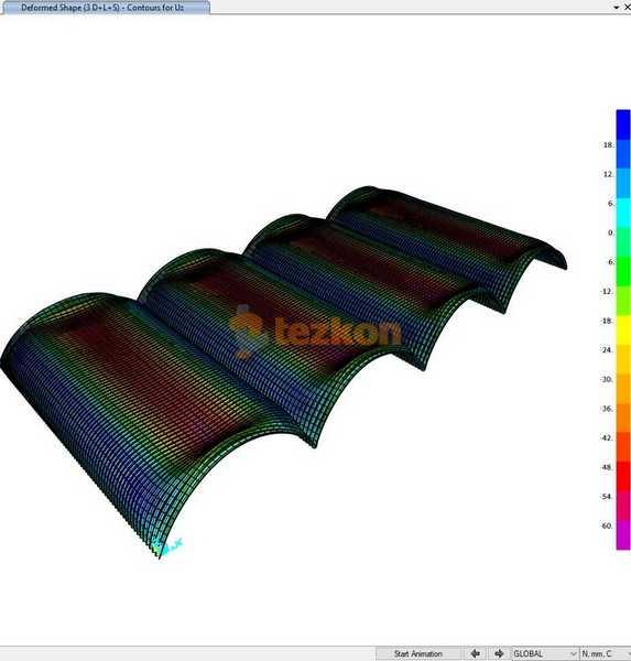 cehak çelik çatı statik proje