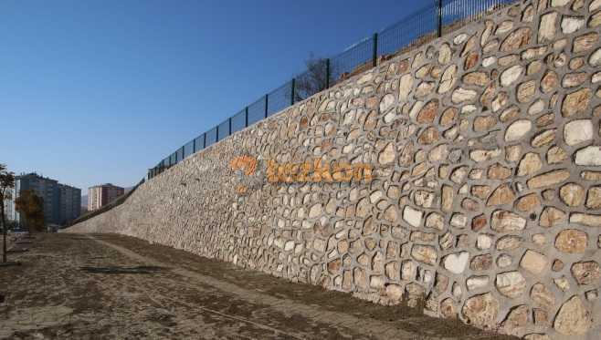 gazhane istinat duvarı statik